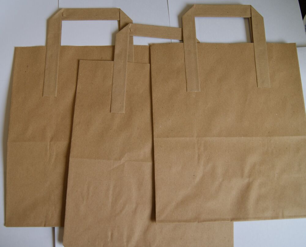 large lunch bags paper handles