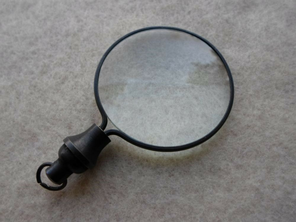 Antique Finish Brass Magnifying Glass