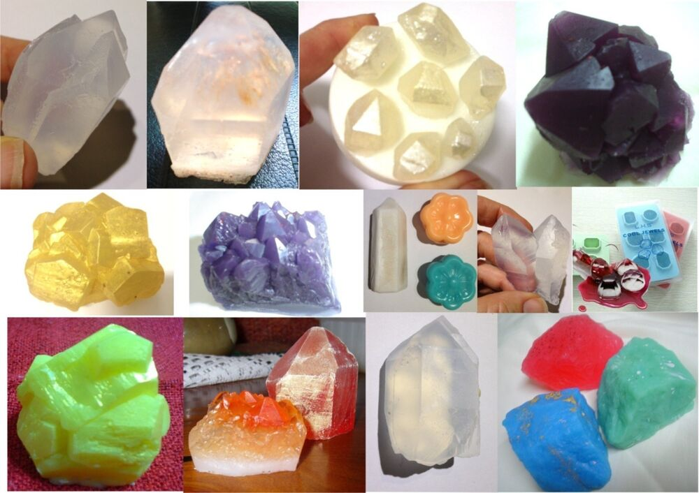 Gemstone Crystal Gem Diamond Silicone Soap Mould Candles