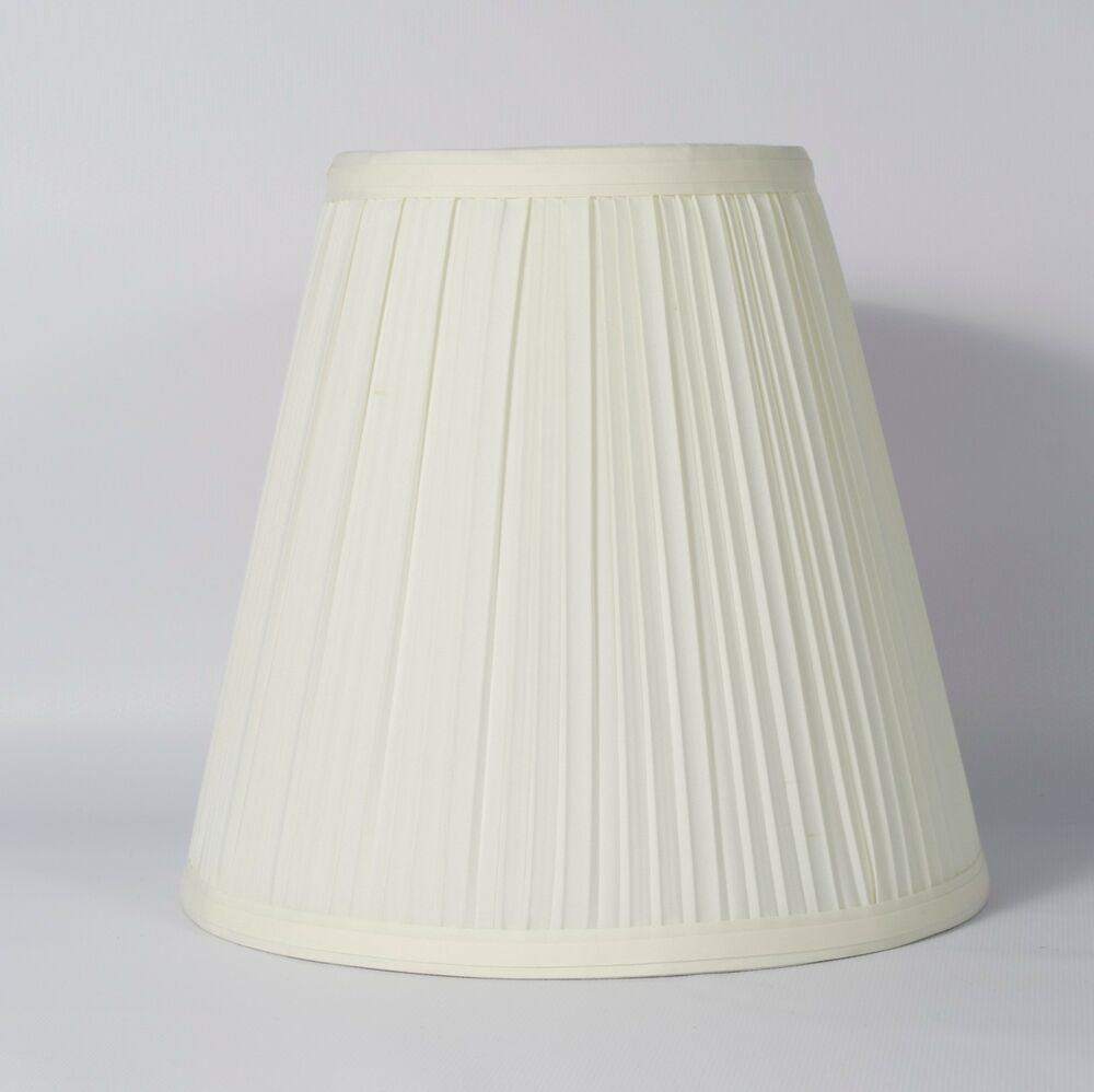 8 X 12 Beige Fabric Pleated Lamp Shades