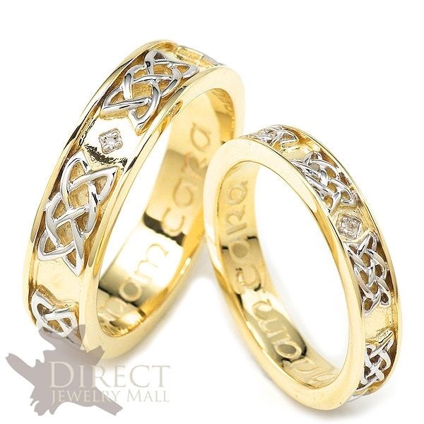 9ct Real GOLD GENUINE DIAMOND Eternity CELTIC HISHER