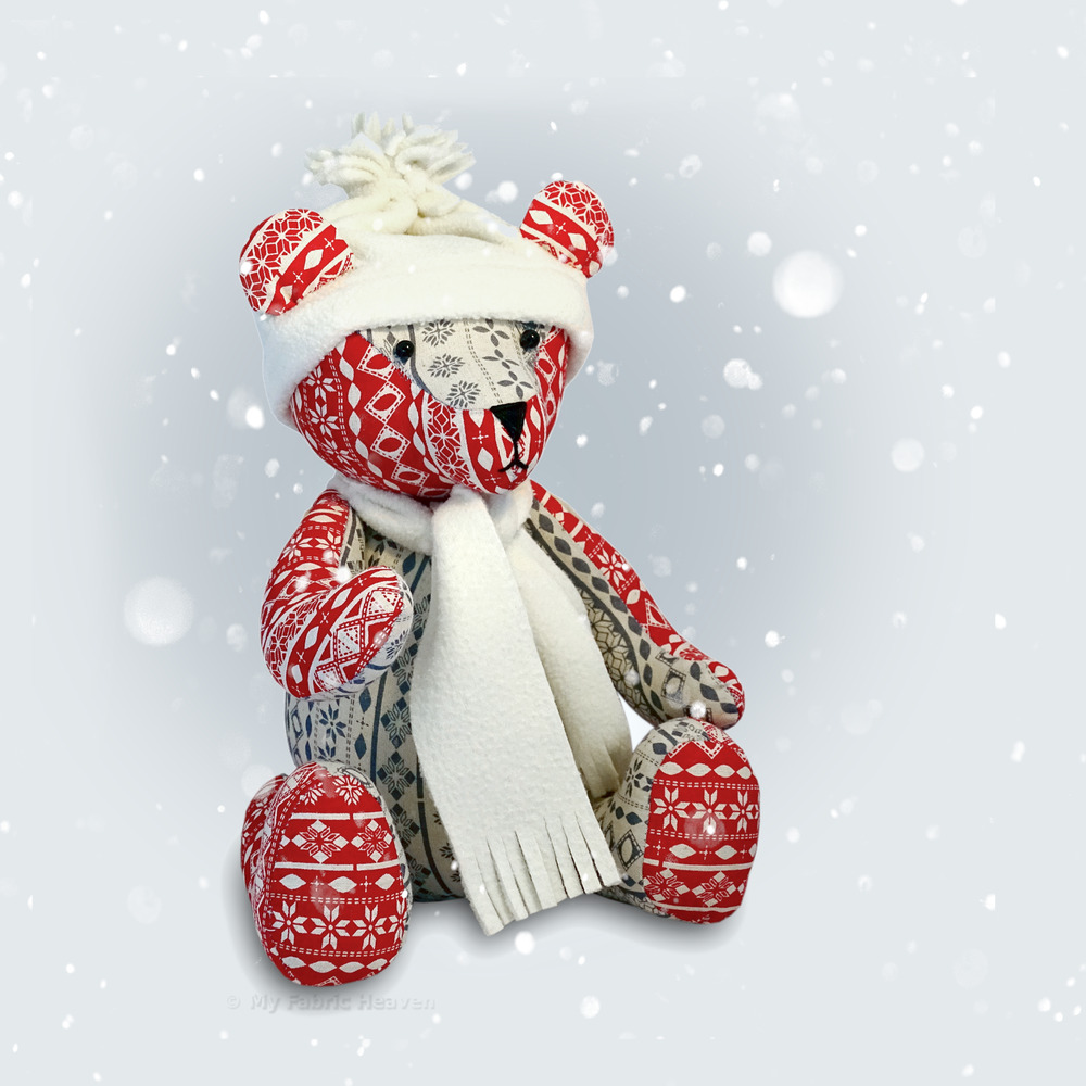 Sewing Bear Teddy Printable Pattern