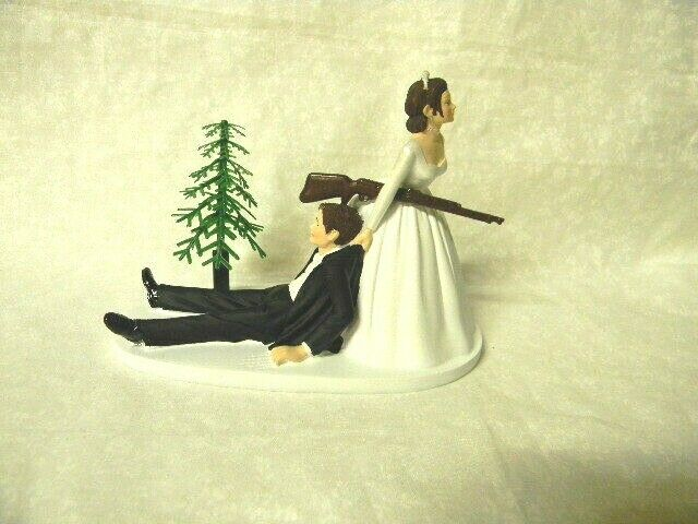 Wedding Party Reception Hunting Hunter Cake Topper Both