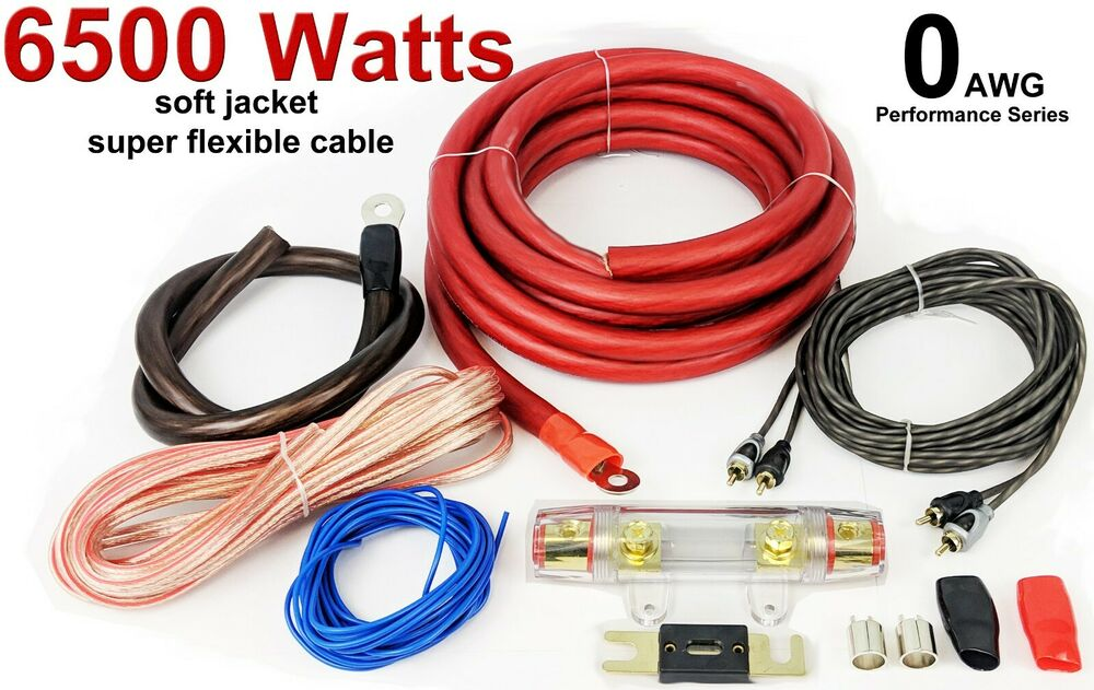 7200 Watts 0 AWG GAUGE Car Amp Amplifier Cable Sub