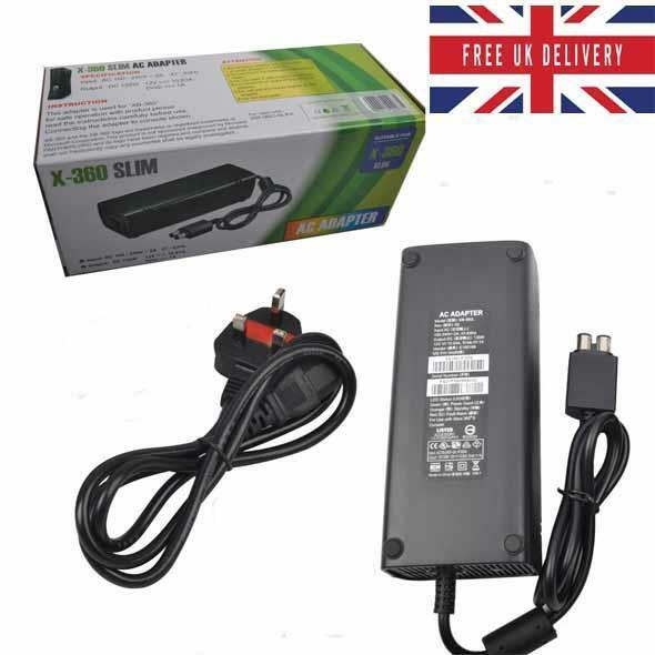 Power Supply For Xbox 360 S Slim Brick Adapter UK Mains