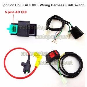 Ignition Coil AC CDI Wiring Loom Harness Kill Switch For 50160cc Pit Dirt Bike | eBay