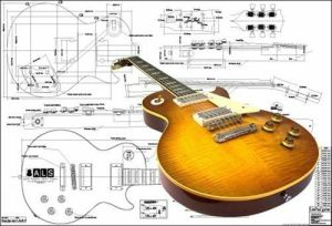 FullScale Plan of Gibson Les Paul '59 Electric Guitar | eBay