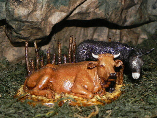 Landi Ox And Donkey Figurine For 35 Nativity Presepio