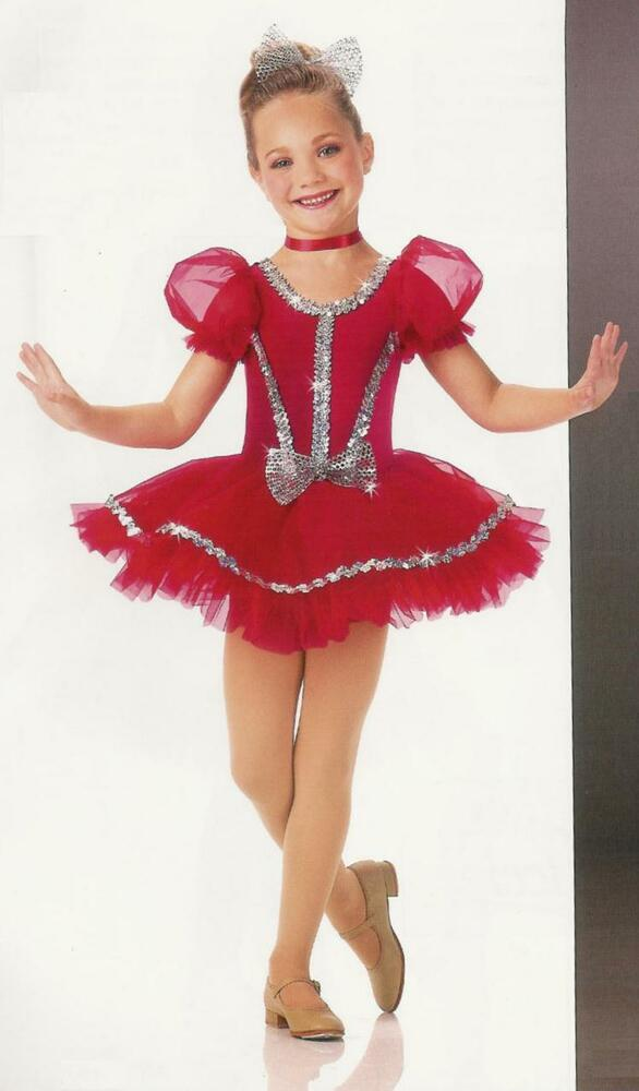 Shirley Temple Ballet Tutu Dance Dress Christmas Red