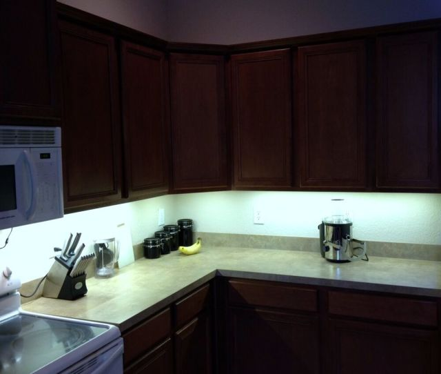 Details About Kitchen Under Cabinet Professional Lighting Kit Cool White Led Strip Tape Light