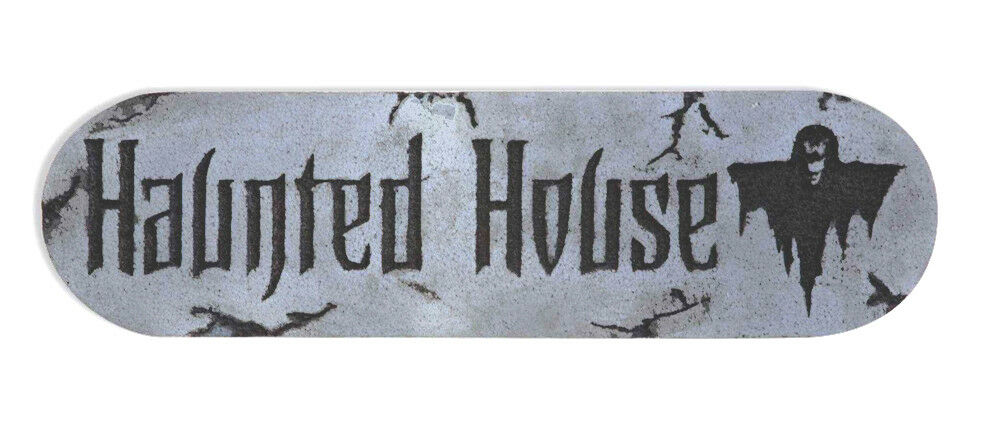 Gothic Horror Scene Sign HAUNTED HOUSE Halloween Party