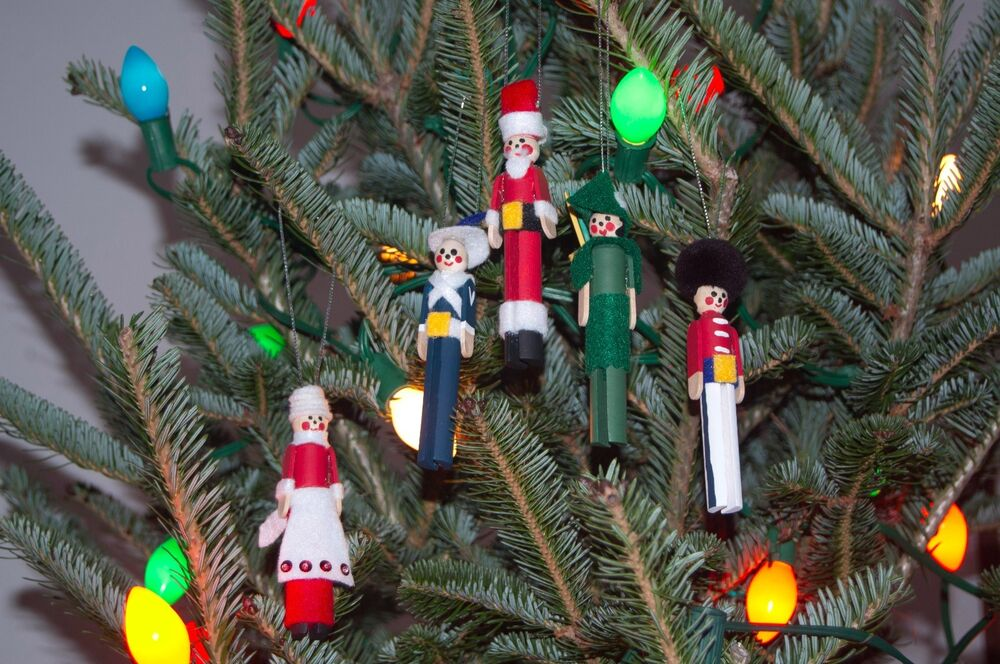Set Of Clothespin People Christmas Tree Ornaments EBay