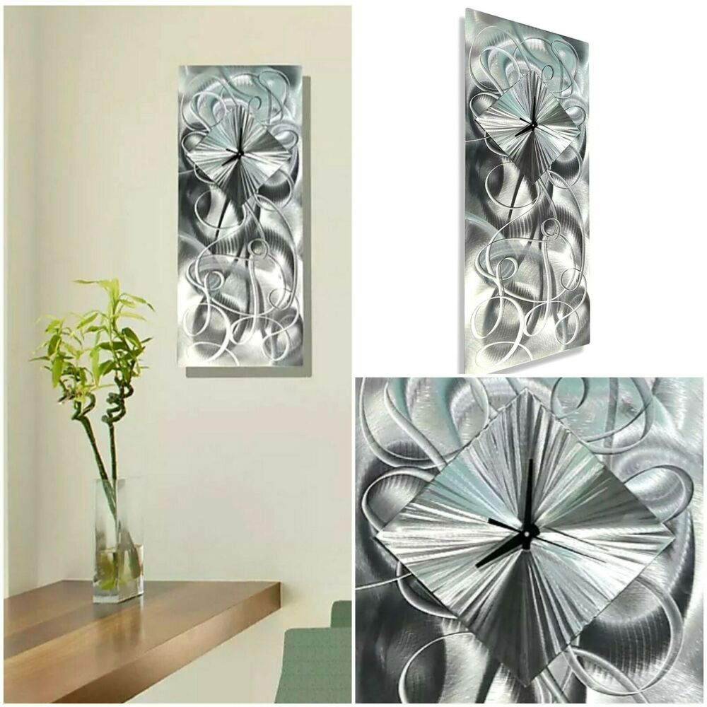 Contemporary Silver Wall Sculpture