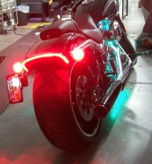 HarleyDavidson Breakout UndertheFender LED Taillight and Turn Signals; Red | eBay
