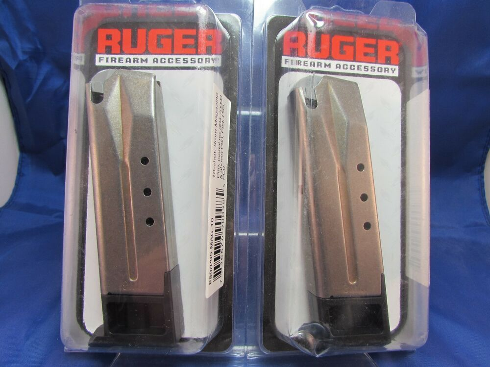 Two Ruger Factory Magazines Mag P89 P95 Mag 10 Round P93