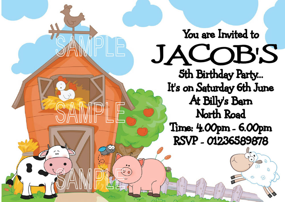 Personalised Childrens Party Invitations