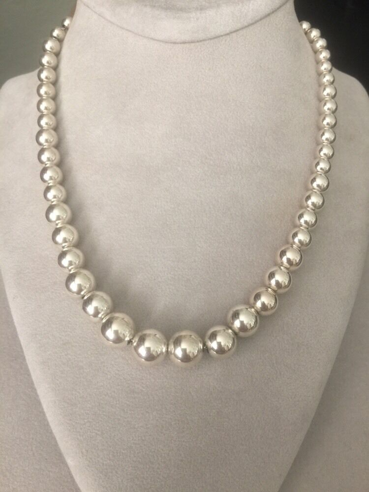 Necklace Sterling Bead Tiffany