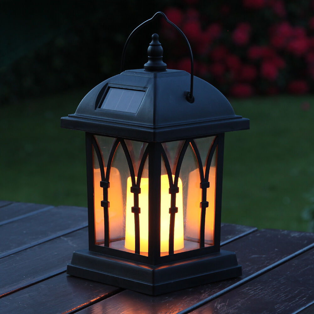 Solar Outdoor Candle Lantern