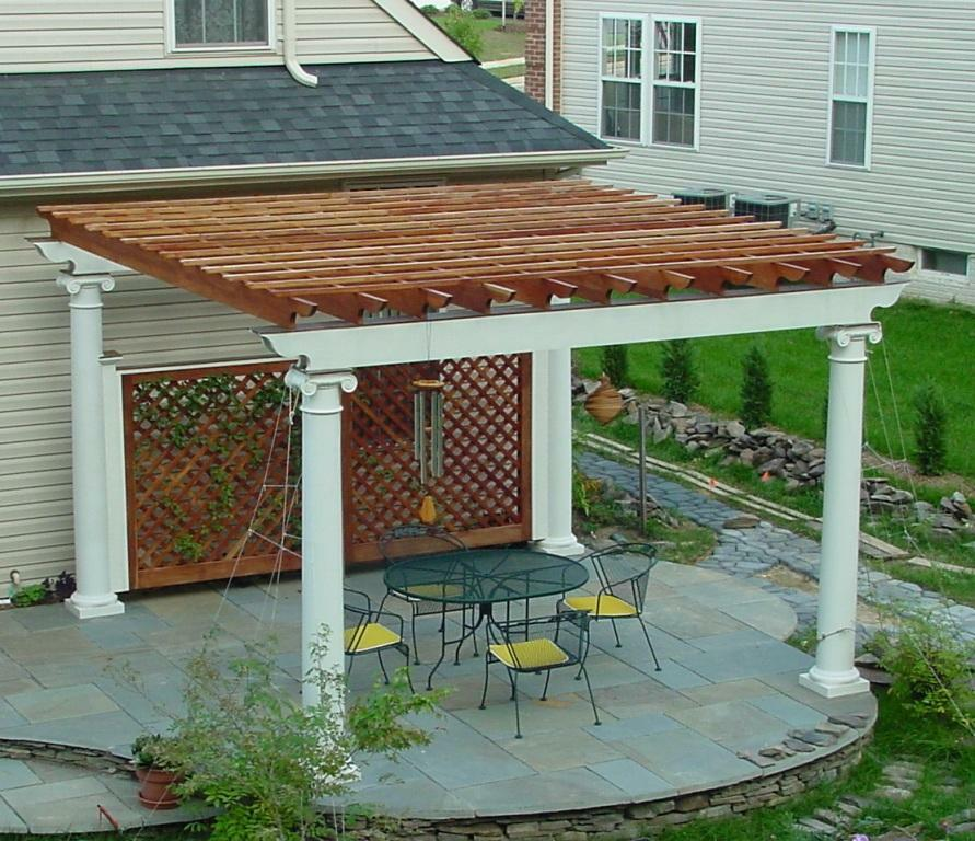 Patio Or Deck Pergola With Tuscan Column Design 20 X 16
