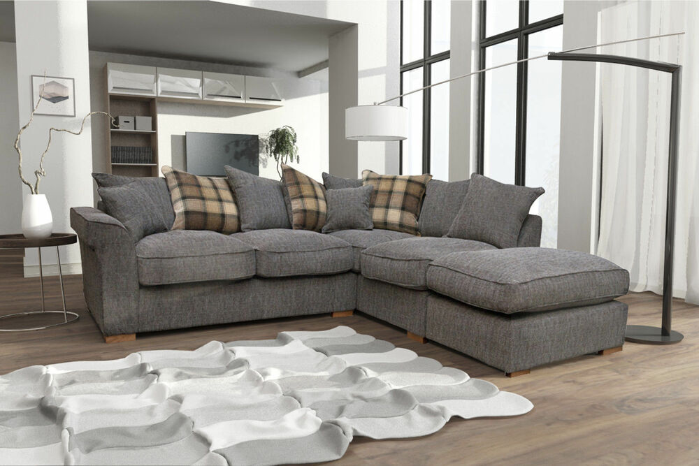 New Fable Large Corner Sofa Scatter Back With Free