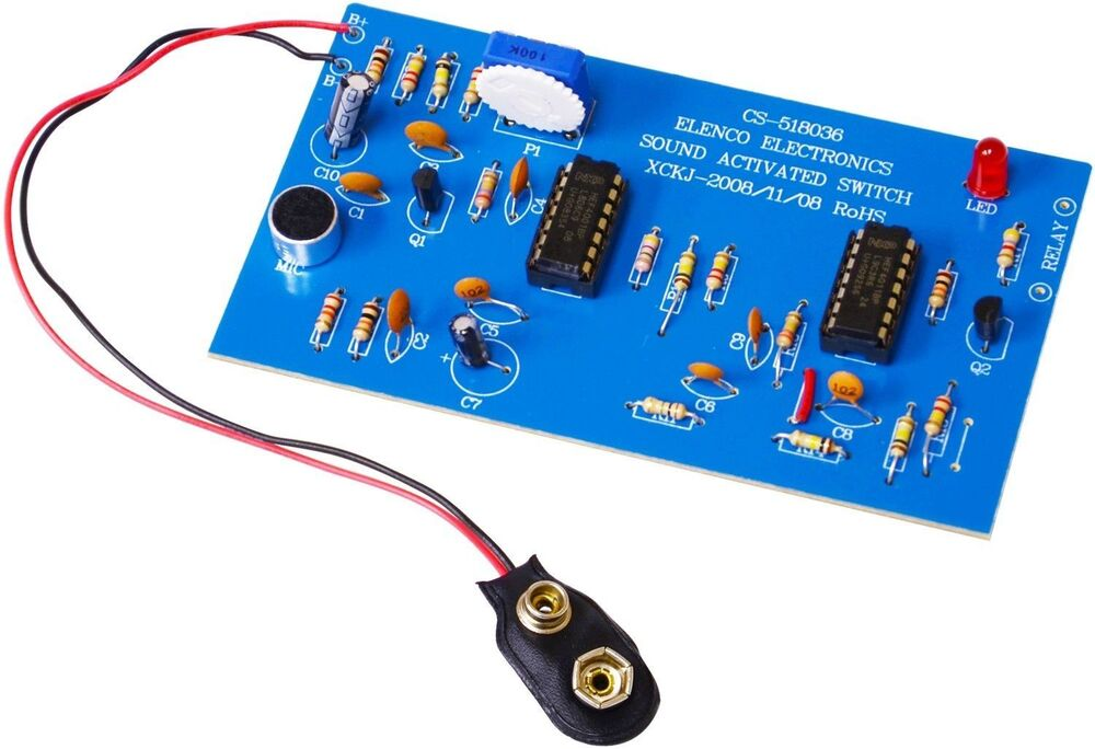 ELENCO K-36 Sound Activated Switch Soldering DIY KIT (Just