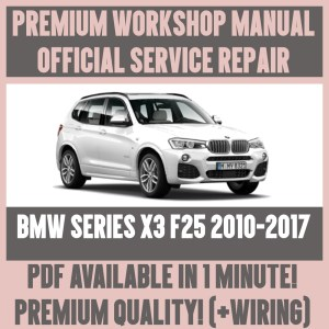 *WORKSHOP MANUAL SERVICE & REPAIR GUIDE for BMW X3 F25 20102017 WIRING DIAGRAM | eBay
