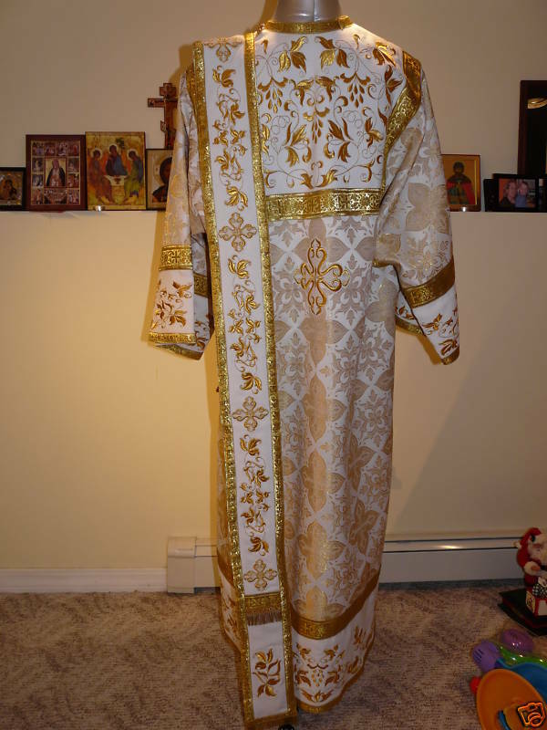 Russian Orthodox Deacon Vestment Embroidered Brocade EBay