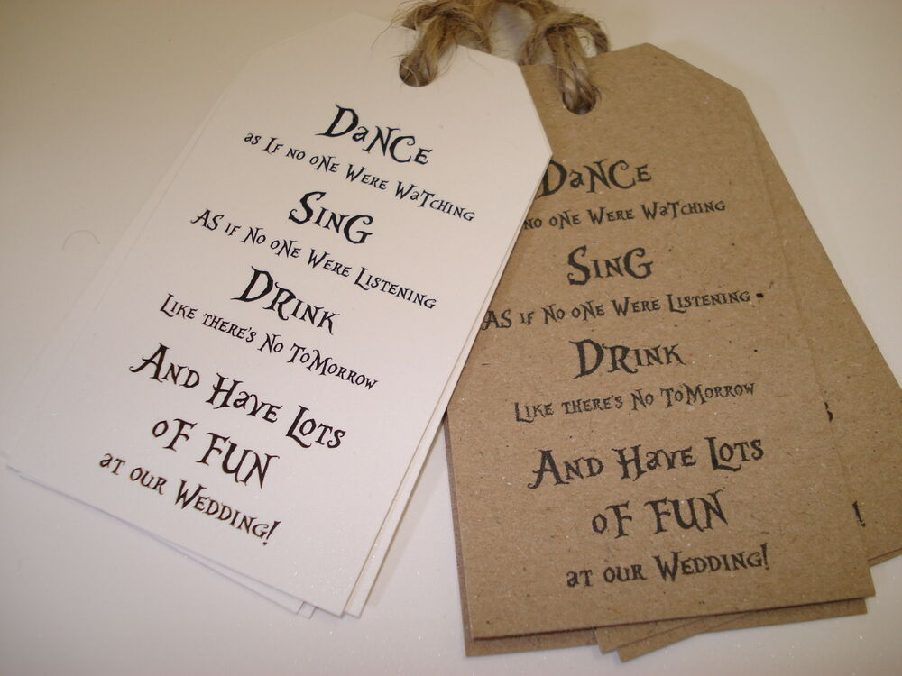 20 VintageShabby Chic Style Wedding Favour Tags Dance