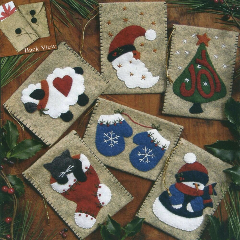 Gift Bags Felt Applique Embroidery Ornament Kit Rachels