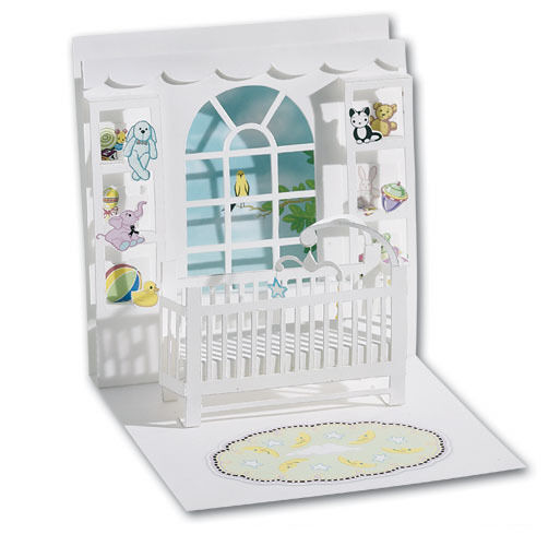Baby Crib Pop Up Greeting Card Greeting Card By Up With