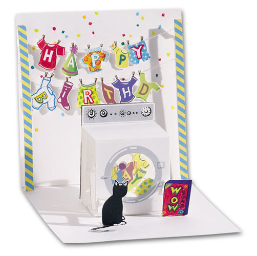 Washing Machine Pop Up Birthday Card Greeting Card By Up