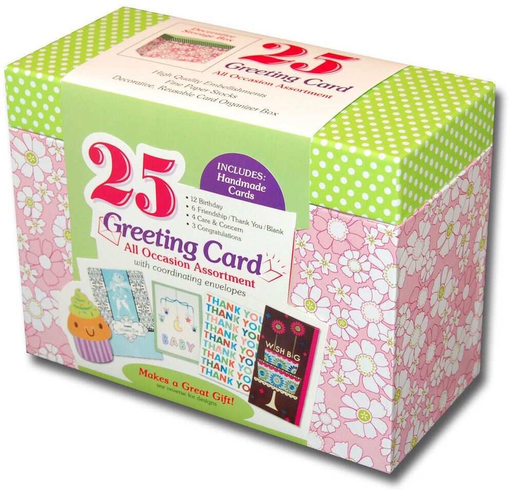 Paper Magic Box Of 25 Assorted All Occasion Embellished
