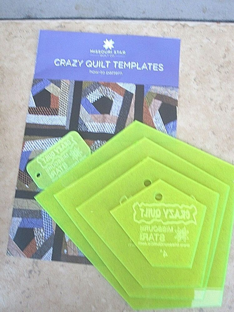 Crazy Quilt Templates 4 Piece Set A 4 6 9 And 12 With A How To Pattern New EBay