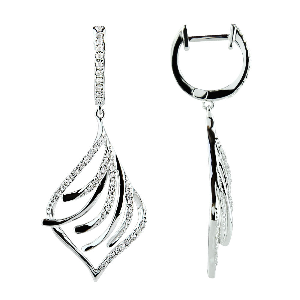 Allergy White Gold Earrings