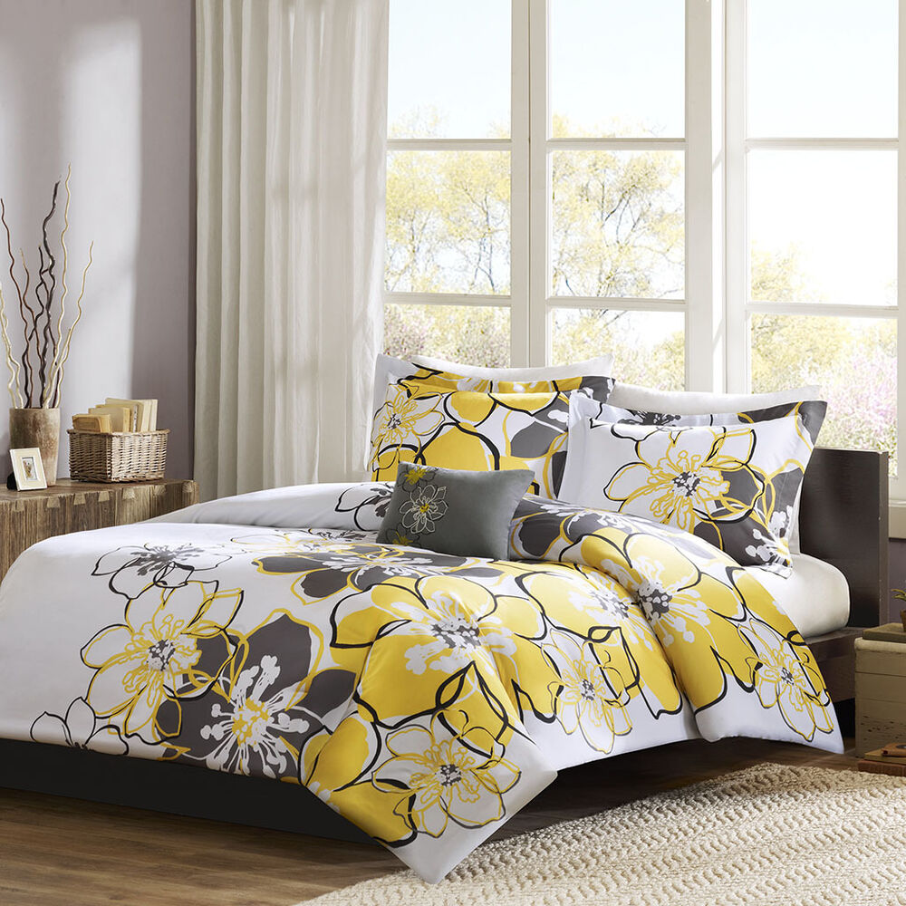 Black white flower bedding sets mightylinksfo