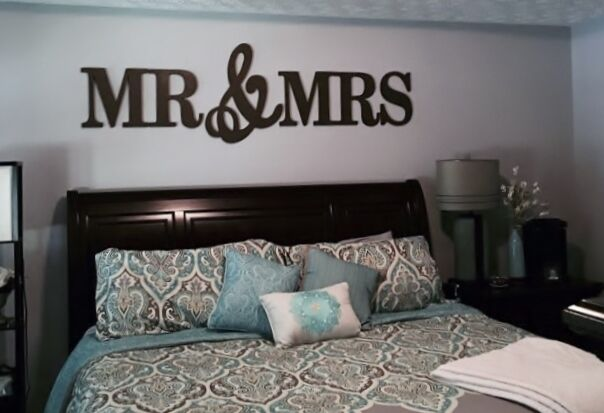 MR & MRS Wood Letters, Wall Décor-Painted Wood Letters