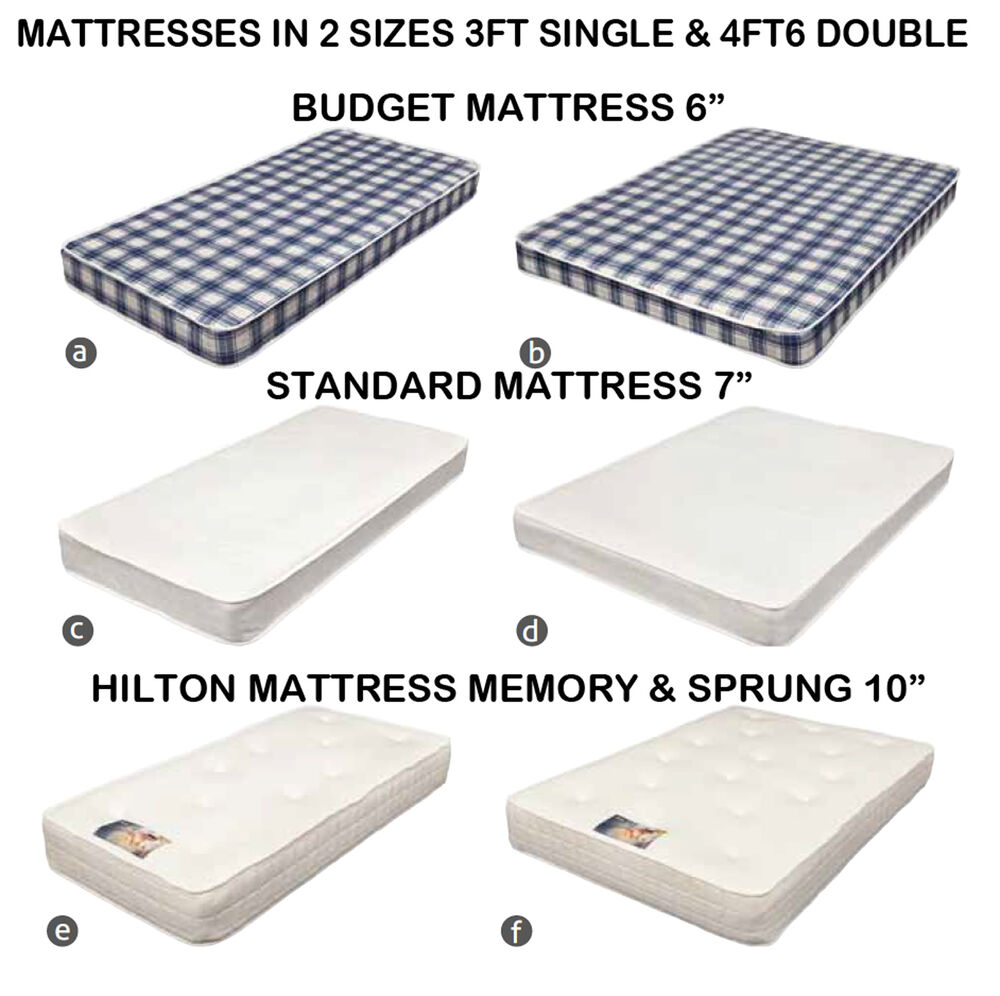 3FT Single Amp 4FT6 Double Bed Mattress Budget 6 7 Amp 10