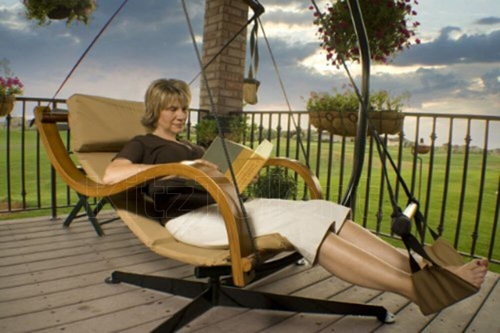 Deluxe Swing Hammock Chair Seat Hanging Lounger Footrest