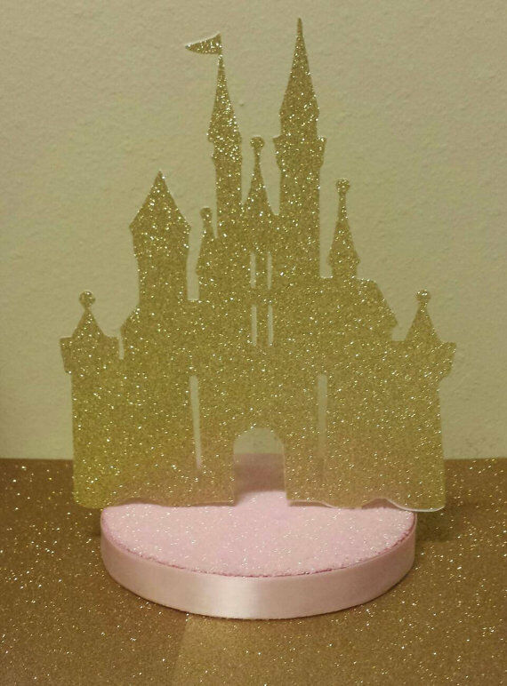 PRINCESS PINK GOLD GLITTER CASTLE BIRTHDAY PARTY BABY SHOWER TABLE CENTERPIECE EBay