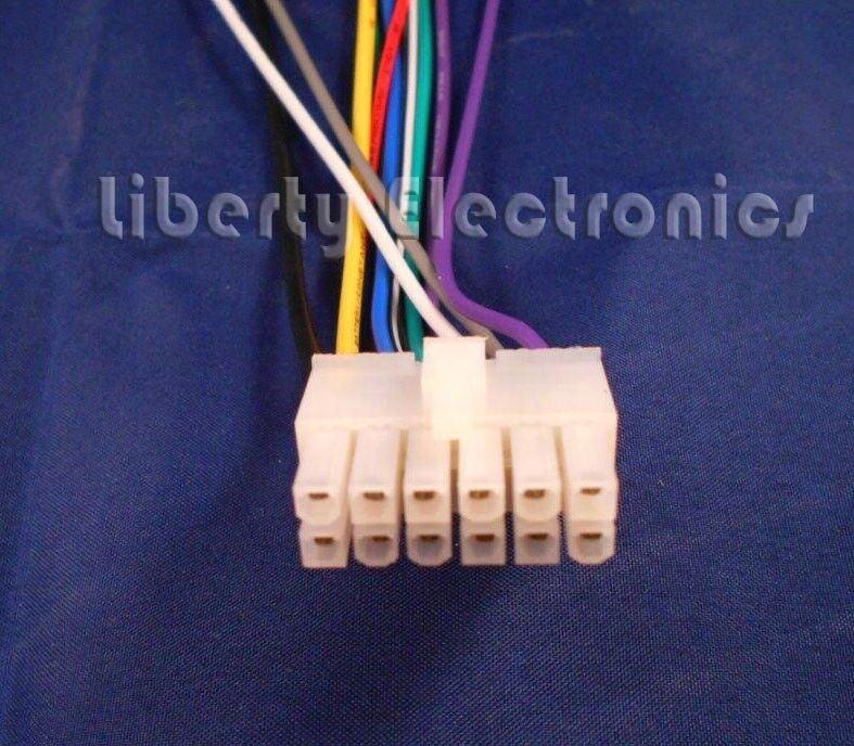 New 12 Pin Wire Harness For Dual Xd250 Cd Player