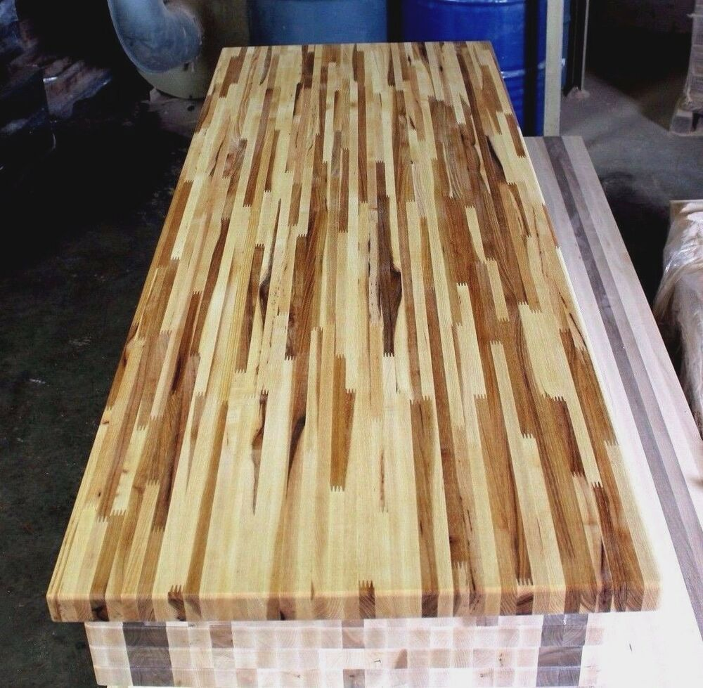 Forever Joint Hickory Butcher Block Top 1 1 2 Quot X26 Quot X50