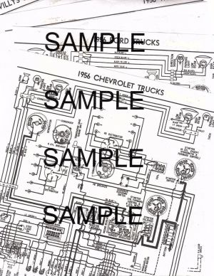 1956 WILLYS JEEP CJ5 4 CYLINDER 56 WIRING GUIDE DIAGRAM