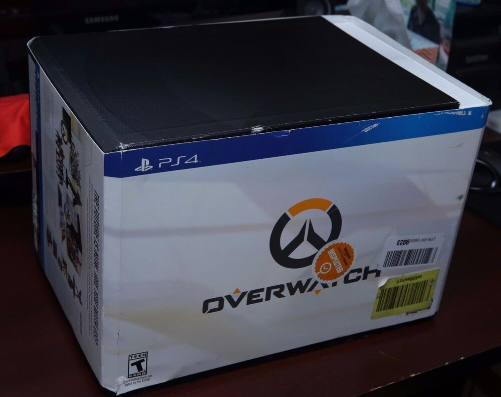 Overwatch Collectors Edition Statue And Box PlayStation 4 PS4 EBay