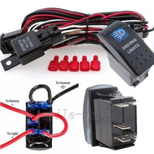 12V OnOff 5 pins Blue Driving Light Rocker Switch