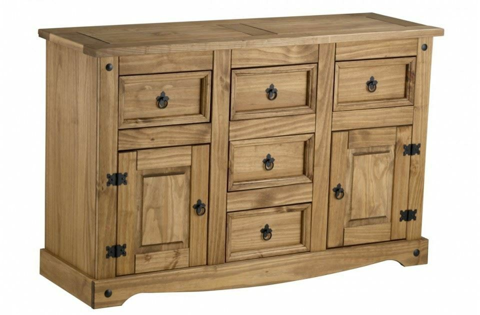 Corona Large Sideboard Mexican Pine Solid Wood Furniture