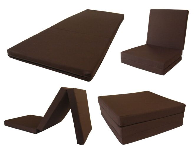 Trifold Foam Bed Tri Fold Chair Beds Folded Floor Mat 3 X 27 75 Ebay