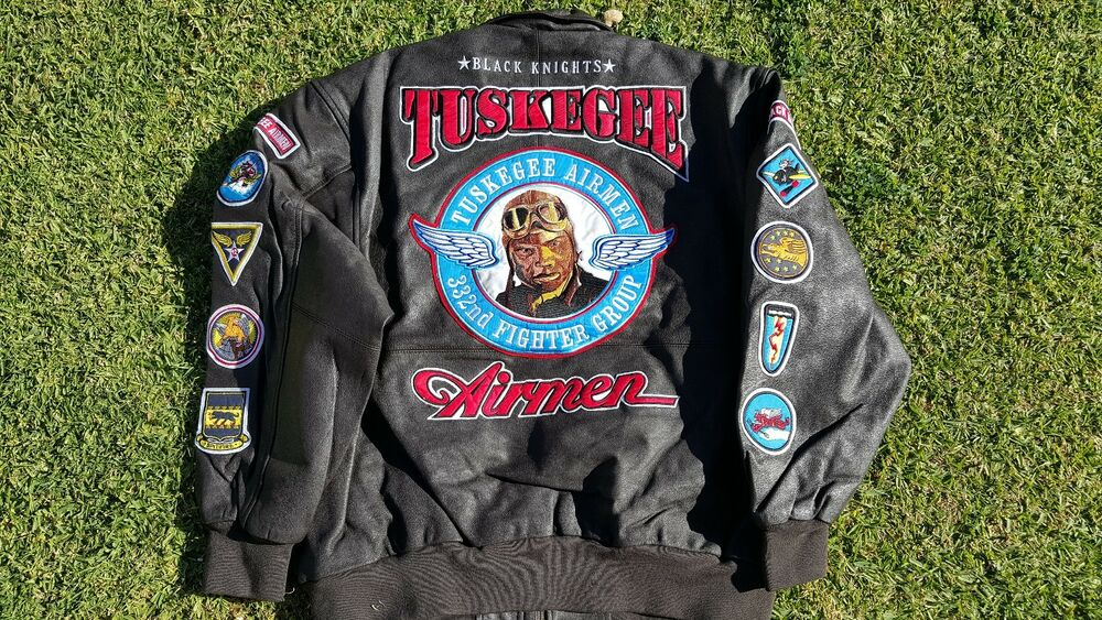 Tuskegee Airmen Leather Jacket 332 REDTAILS US AIR FORCE