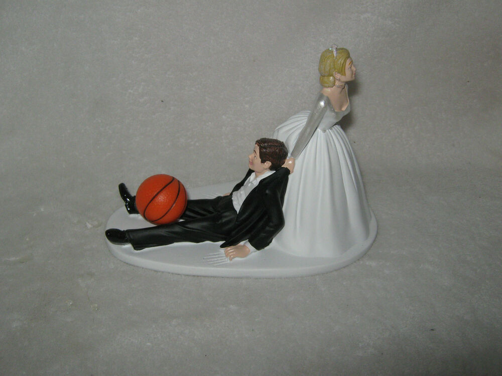 Wedding Party Basketball Cake Topper Sports Bride