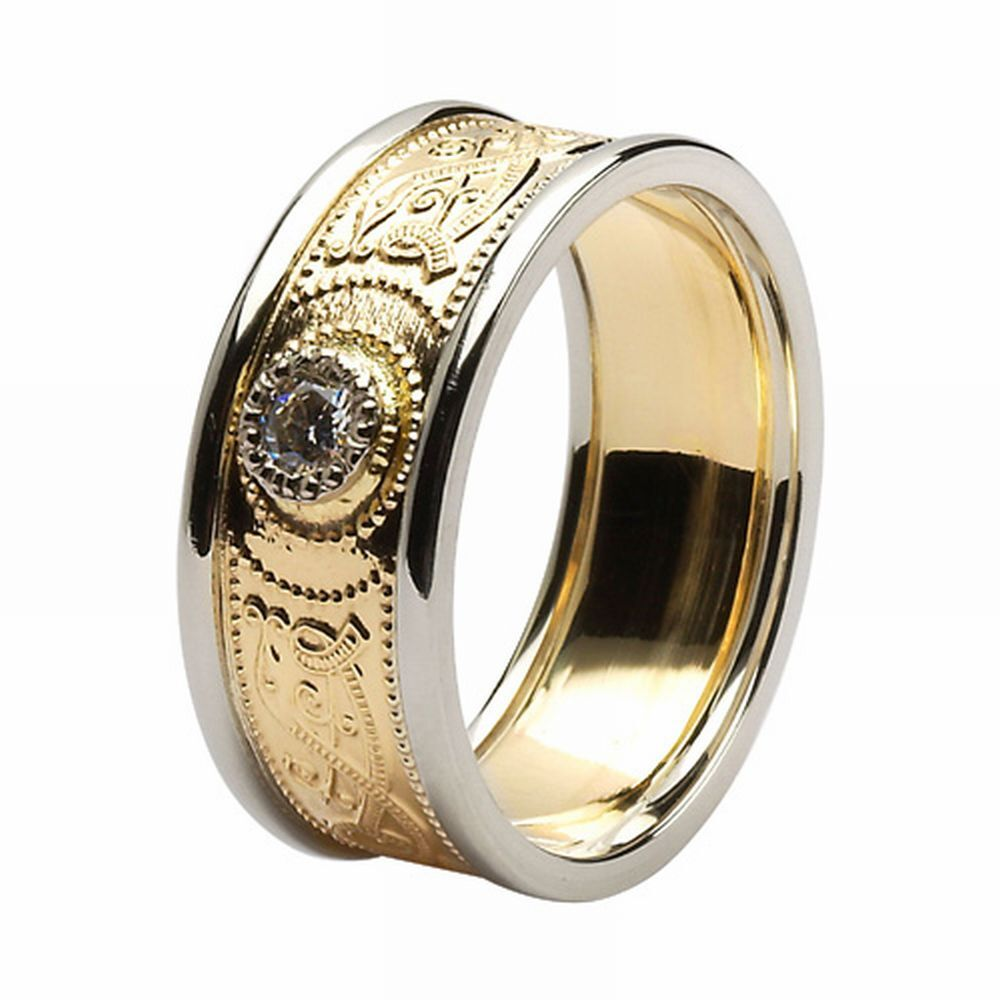10k Gold Irish Handcrafted Irish Celtic Warrior Wedding
