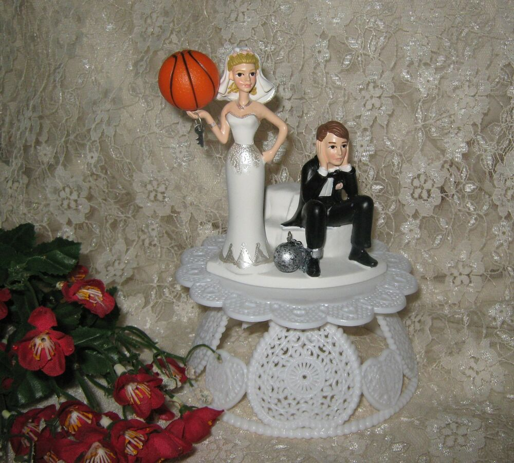 Wedding Party Reception Basketball Goal Cake Topper